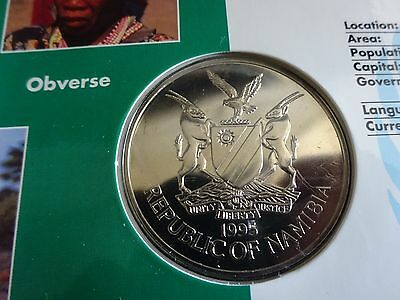 United Nations Series NAMIBIA $10 1995 Coin Sealed On Card