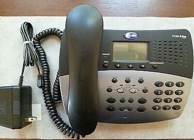 At&t 2462 2 Line Digital Answering Machine System Phone For 2.4Ghz 2402 Handsets