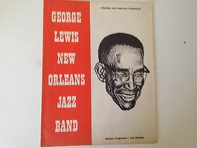George Lewis New Orleans Jazz Band 1959 Uk Concert Programme