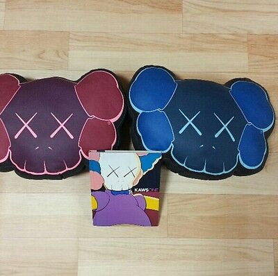 KAWS Cushion 3 piece set KAWSONE Art book from JAPAN Rare F/S