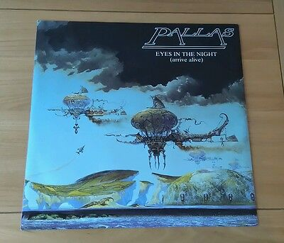 "Pallas Eyes In The Night 1984 UK 12"" Single Harvest 12PLS1 A1B1 Pic Sleeve Prog"