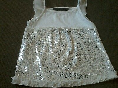 Pretty Next baby girls white sequined top  size 12-18 months very good condition