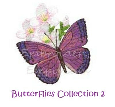 Butterflies Collection 2 - Machine Embroidery Designs On Cd
