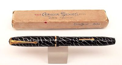 Conway Stewart No 28 Cracked Ice Fountain Pen Boxed
