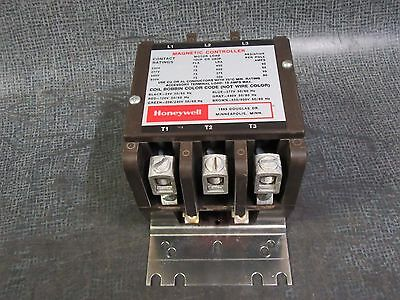 Honeywell Contactor 75 Amp 600V 1 Phase 2 Pole Or 3 Phase 3 Pole 120V Coil