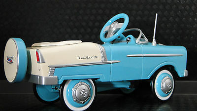 1955 Chevy Pedal Car BelAir Hot Rod Vintage Sport Midget Metal Model Two Tone
