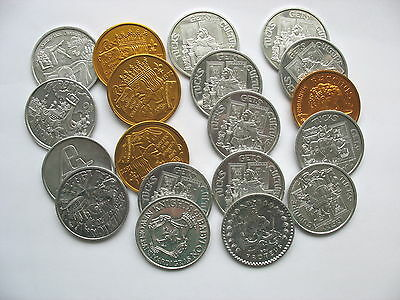 LOT OF MARDI GRAS COINS or TOKENS - LOT OF 19   -  8 DIFFERENT