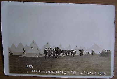 A Very Emotive Pre Wwi Real Photograph Postcard Of Redcar Army Camp 1909