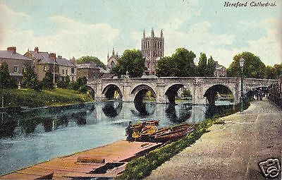 Early Postcard, Hereford Cathedral, Hereford