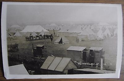 A Very Emotive Pre Wwi Real Photograph Postcard Of Redcar Army Camp In 1909