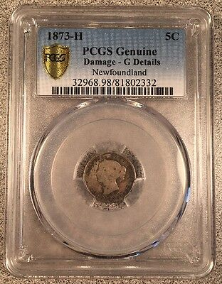 1873-H 5C PCGS Genuine Good Details Newfoundland