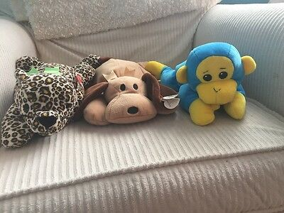 Pillow Pals Plush Ty Lot Of 3 1996-98, 2 Are NWT, 1 EUC! Speckles, Woof, Swinger