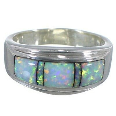 Opal Inlay Southwestern Ring Size 6-3/4 PS58491