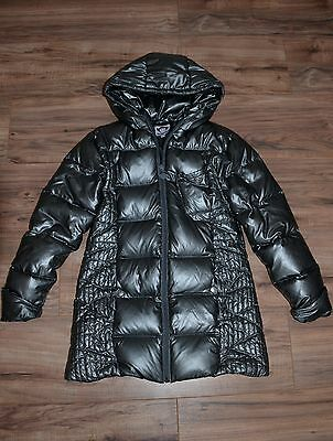 Girls Winter Jacket / Long Down Coat by Appaman, Size 10, Pewter *SALE*