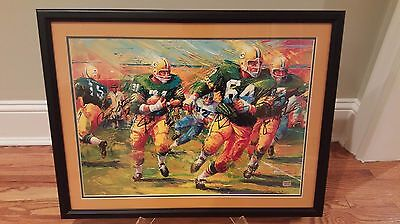 """Green Bay Packers/Lombardi Sweep Litho """"ALL FOUR SIGNED"""" Legends Sports Hologram"""