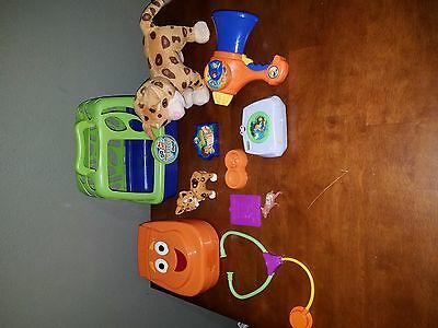 Go Diego Go! Huge Toy Lot My Talking Rescue Backpack Baby Jaguar with Carrier
