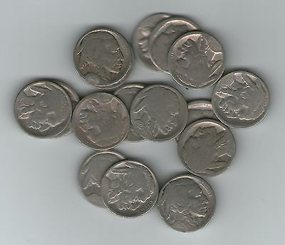 17 Different Buffalo Nickels 1913-29 Restored Dates + Bonus Coin