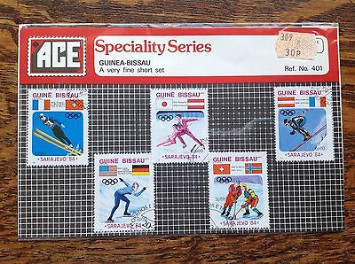 Guine Bissau 1984 Winter Olympics Stamps