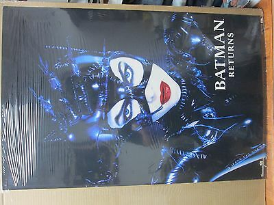 vintage 1992 Batman Returns original movie DC Comics poster Cat woman 12132