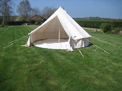 4M BUSHCRAFT BELL TENT WITH CHIMNEY FITTING glamping camping GROUNDSHEET INCLUDE