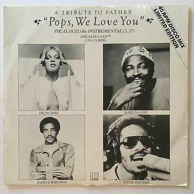 """A TRIBUTE TO FATHER/POPS WE LOVE YOU/Orig UK Motown 12"""" MARVIN GAYE/DIANA ROSS"""