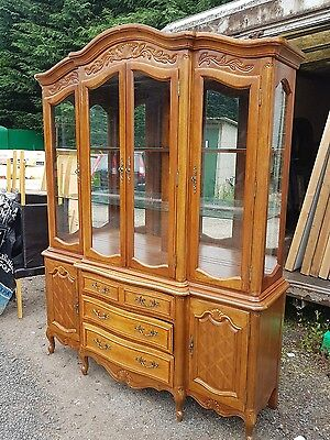 glazed dresser display cabinet wall unit, made 1991 old charm style