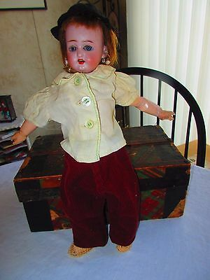 3 pc antique doll   hat, blouse, pant for antique  doll