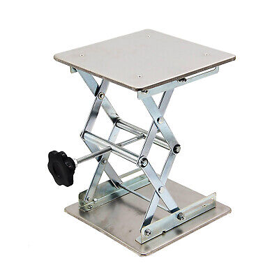 "HFS Plate 6x6""; Overall Height 10""; Lab Jack Scissor Stand Platform 8kg/17.6lbs"