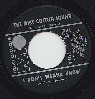 The Mike COTTON SOUND * I Don't Wanna Know * 1964 UK MOD R&B FREAKBEAT 45 *