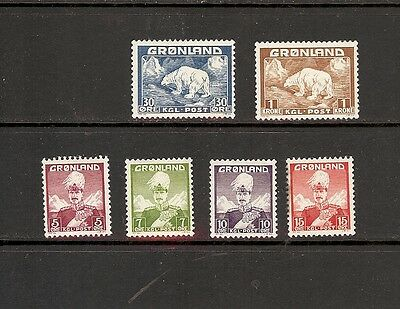 Mixed group of MINTGreenland: #2Thru#5;#7, #9 all are Lightly Hinged SCV=$15.80