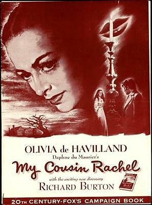 MY COUSIN RACHEL pressbook, Olivia De Havilland, Richard Burton (His 1st movie)
