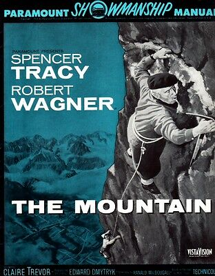 THE MOUNTAIN pressbook , Spencer Tracy, Robert Wagner, Claire Trevor VISTAVISION