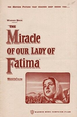 MIRACLE OF OUR LADY OF FATIMA pressbook, Gilbert Roland, Angela Clarke