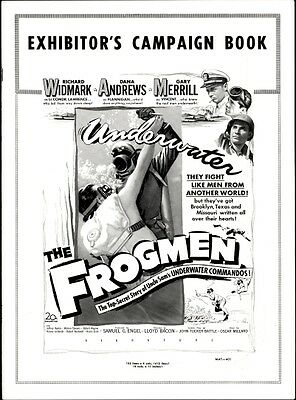 FROGMEN pressbook, Richard Widmark, Dana Andrews, Gary Merrill, Jeffery Hunter