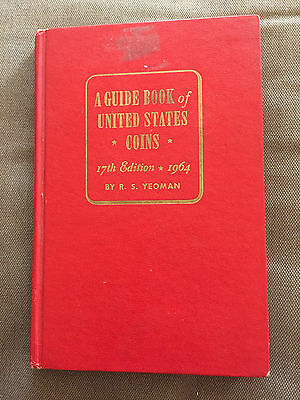 """1964 """"the Guide Book Of United States Coins - 1964"""" Illustrated Hardback Book"""