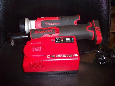 "Snap-on 3/8"" Drive Cordless Ratchet, worklight 1 Battery and Charger 14.4V"