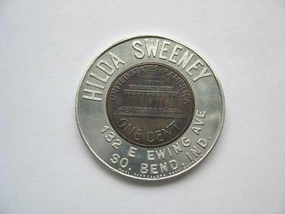 1960 Lincoln Encased Cent - Hilda Sweeny - Indiana