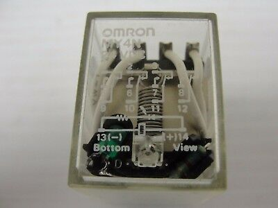 Omron Relay, MY4N 5 AMP Contact, 24VDC Coil, 4PDT (Lot of 5) $40.00 ($8.00 ea).