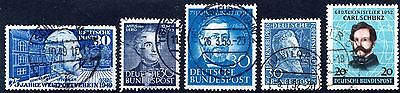 Germany -  1950's BLUES' - ALL USED NEVER NINGED
