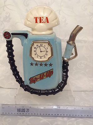 Cardew South West Ceramics Collectable Novelty Lge Teapot 1989 Blue Petrol Pump