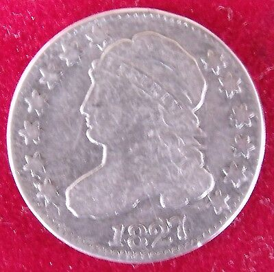 1827 Capped Bust Dime Variety 1 – Fine – Great Type Coin - Free Shipping