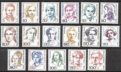 Germany  BERLIN  - 'FAMOUS WOMEN' -  A  FULL SET  - MINT NEVER HINGED  st