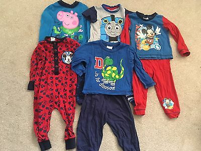 Boys 12-18 Months Pyjama Bundle Inc Peppa Pig And Mickey Mouse