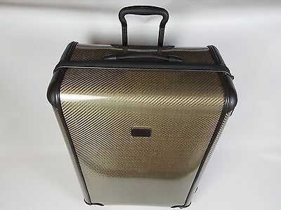 TUMI Tegre Lite Large Trip Packing - Hard Case - Fossil Brown - Gold - NWT $845