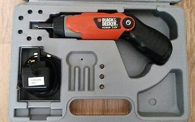 Black And Decker Cordless Screwdriver with bits, Case and  Charger KC9036 3.6v