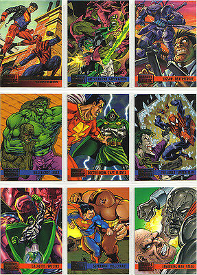 99 DC versus Marvel Trading Cards Collectible New DC vs Marvel
