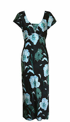 MONSOON .. Size 8 .. MAXI .. FLORAL PRINT EVENING DRESS  ..