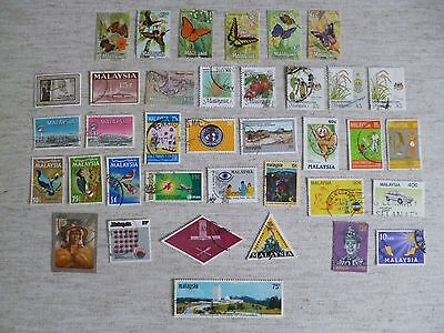 Malaysia. 36 Used Stamps Issued From 1963 As Shown