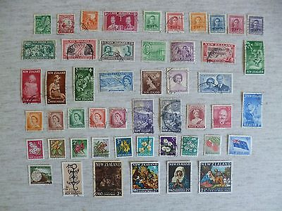 New Zealand 1935 To 1963. 50 Used Definitive And Commemorative Stamps