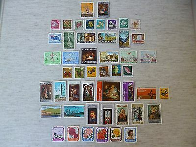New Zealand 1967 To 1975. 49 Used Definitive And Commemorative Stamps